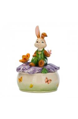 Музыкальная шкатулка с кроликом 17 см - wos3061