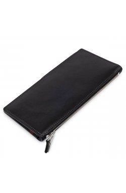 Оригинальное кожаное портмоне унисекс GRANDE PELLE 11513 Черный