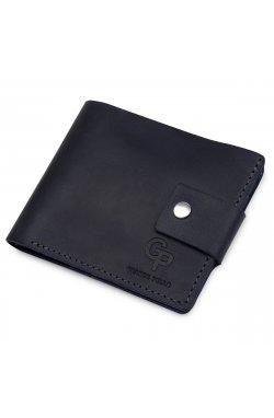 Мужское компактное кожаное портмоне GRANDE PELLE 11519 Темно-синий