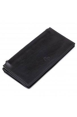 Практичное стильное портмоне унисекс GRANDE PELLE 11558 Черный