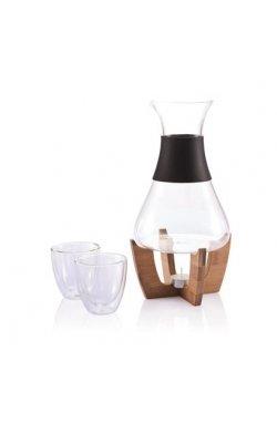 Набор для глинтвейна (подставка, графин, 2 стакана) - wos2734