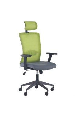 Кресло Uran Black HR сиденье Нест-08 серая/спинка Сетка SL-06 салатовая - AMF - 297851