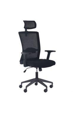 Кресло Uran Black HR сиденье Нест-19 св.серая/спинка Сетка SL-18 аквамарин - AMF - 377239