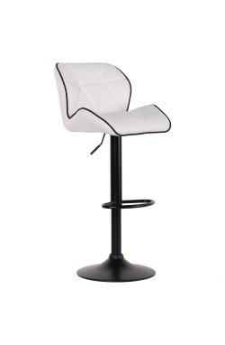 Барный стул Vensan белый база black - AMF - 547388