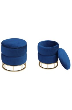 Пуф Gabriel Blue / Golden Chrom - AMF - 547487