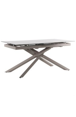 Стол обеденный раскладной Gerald beige/glass Quartz beige - AMF - 547228