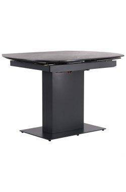 Стол обеденный раскладной Billy anthracite/сeramics Calacatta nero - AMF - 547217