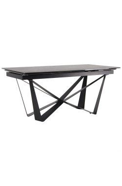 Стол обеденный раскладной Vincent black/сeramics Calacatta nero - AMF - 547220