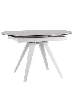 Стол обеденный раскладной Krystle white/сeramics Venato bianco - AMF - 547216