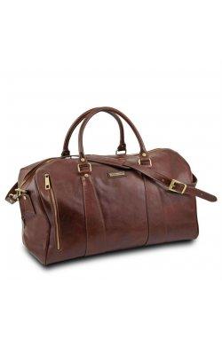 TL141794 Темно-коричневый TL Voyager - Дорожная кожаная сумка-даффл - Большой размер от Tuscany