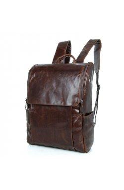 Мужской кожаный рюкзак для ежедневного использования John McDee 7344C Коричневый