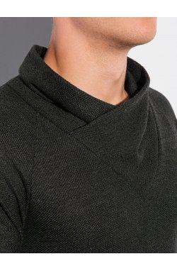 Мужская толстовка без капюшона B1222 - хаки - Ombre