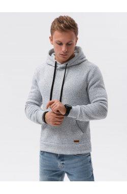 Толстовка мужская с капюшоном B1094 – светло-серый - Ombre