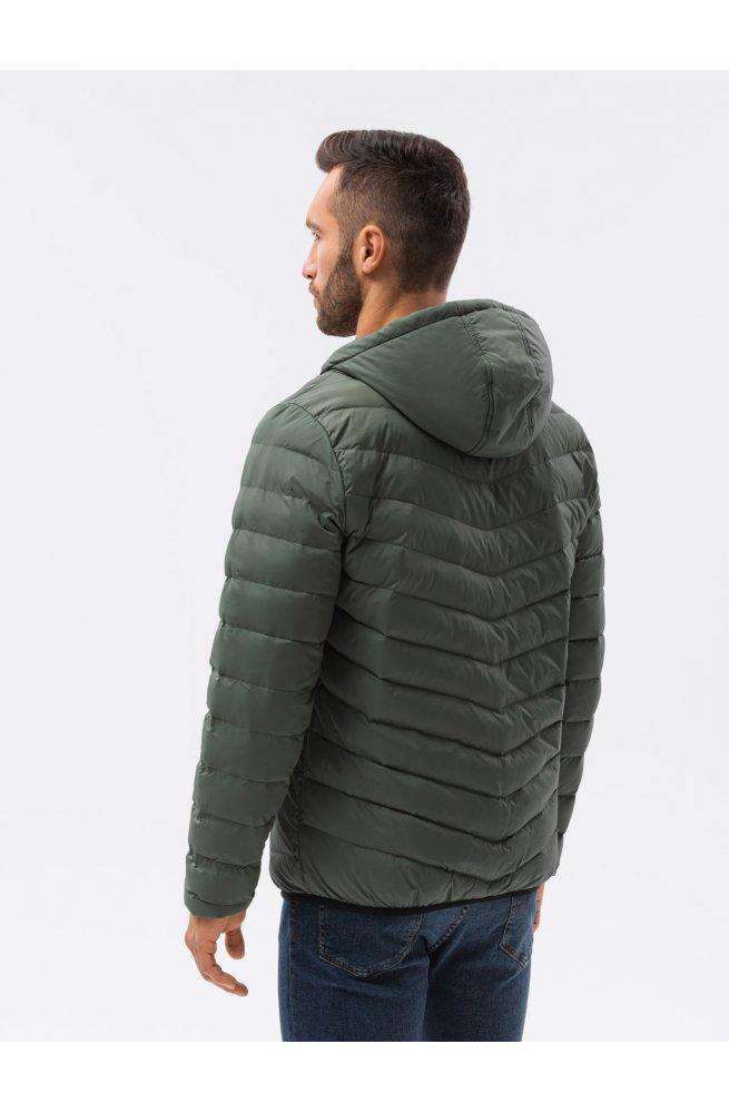 Мужская куртка демисезонная стеганая C356 - хаки - Ombre