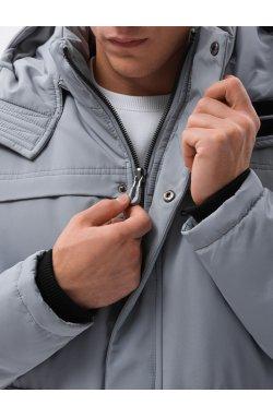 Мужская зимняя куртка C504 - серый - Ombre
