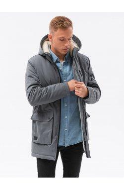 Мужская зимняя куртка C517 - графитный - Ombre