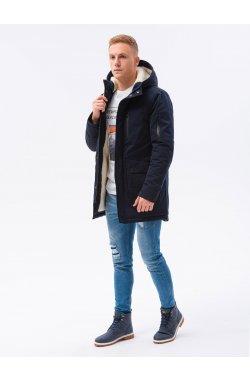 Мужская зимняя куртка C517 - темно-синий - Ombre