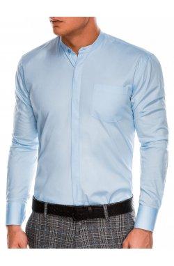 Мужская рубашка элегантная с длинным рукавом K586 - голубая - Ombre