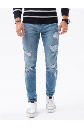 Мужские джинсовые штаны P1024 - светло-синий - Ombre