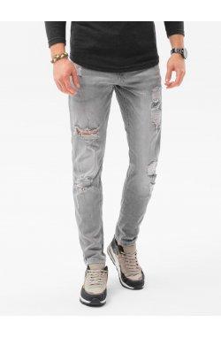 Мужские джинсовые штаны P1024 - серый - Ombre
