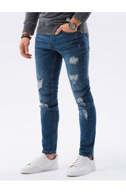 Мужские джинсовые штаны P1024 - синий - Ombre