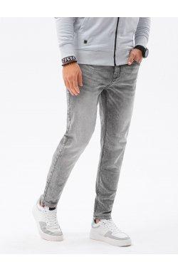 Мужские джинсовые штаны P1022 - серый - Ombre