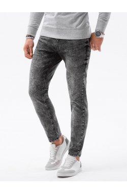 Мужские джинсовые штаны P1022 - чёрный - Ombre