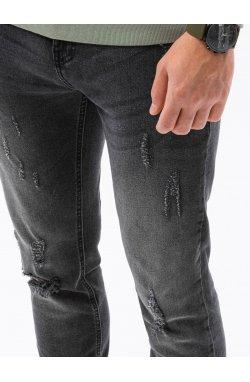 Мужские джинсовые штаны P1021 - чёрный - Ombre