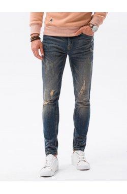 Мужские джинсовые штаны P1021 - синий - Ombre