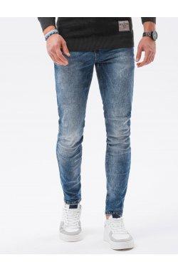 Мужские джинсовые штаны P1023 - синий - Ombre