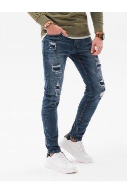 Мужские джинсовые штаны P1025 - синий - Ombre