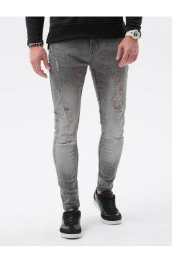Мужские джинсовые штаны P1064 - серый - Ombre
