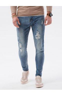 Мужские джинсовые штаны P1064 - светло-синий - Ombre