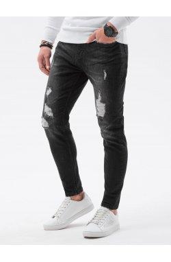 Мужские джинсовые штаны P1064 - чёрный - Ombre