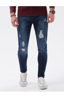 Мужские джинсовые штаны P1064 - синий - Ombre