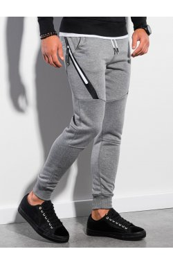 Мужские спортивные штаны P1002 - серый меланж - Ombre