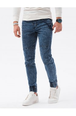 Мужские штаны-джоггеры P1056 - синий - Ombre
