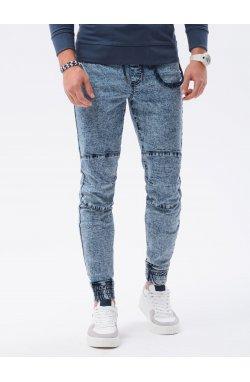Мужские брюки джоггеры P1056 - светло-синий - Ombre