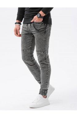 Мужские брюки джоггеры P1056 - чёрный - Ombre
