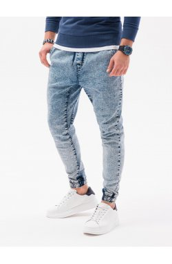 Мужские брюки джоггеры P1027 - светло-синий - Ombre