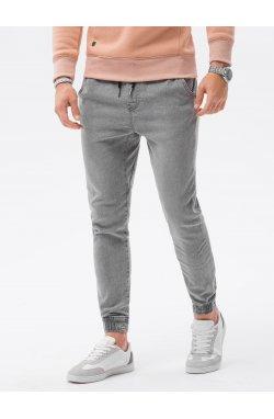 Мужские брюки джоггеры P1027 - серый - Ombre