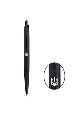 Ручка шариковая Parker JOTTER 17 XL Monochrome Black BT BP Трезубец 12 432_TR
