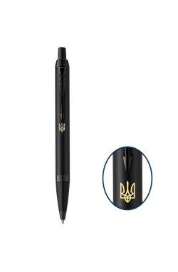 Ручка шариковая Parker IM 17 Achromatic Black BT BP Трезубец 22 932_TR
