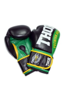 Перчатки боксерские THOR SHARK 14oz /PU /зеленые