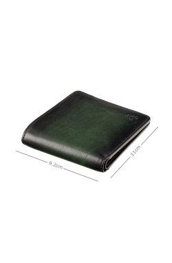 Кошелек мужской Visconti AT58 Milo c RFID (Burnish Green) - натуральная кожа, темно-зеленый