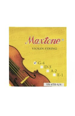 Струны для смычковых инструментов MAXTONE VN-4TH-4/4 - Violin String (4th)
