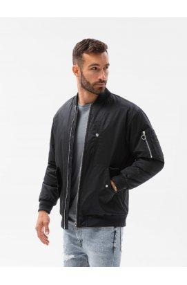 Мужская повседневная куртка C516 - чёрная - Ombre