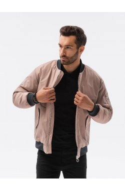 Мужская повседневная куртка C516 - бежевый - Ombre
