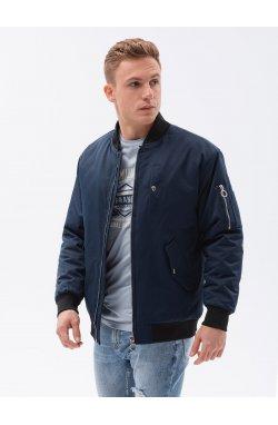 Мужская повседневная куртка C516 - темно-синий - Ombre