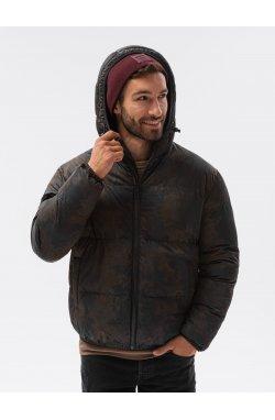 Мужская зимняя куртка C529 - чёрный - Ombre